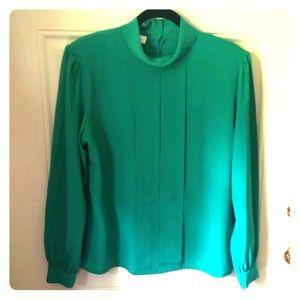 Vintage Green Blouse